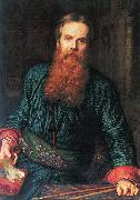 William Holman Hunt Selfportrait oil painting reproduction