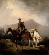 William Ranney Encamped in the Wilds of Kentucky oil