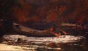 Winslow Homer Hound and Hunter painting