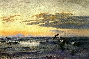 bruno liljefors Eiders at Sunrise oil painting reproduction