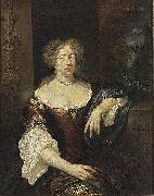caspar netscher Portrait of a Lady oil on canvas
