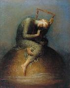 george frederic watts,o.m.,r.a. Hope painting