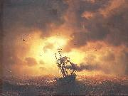 marcus larson Stemship in Sunset oil painting reproduction
