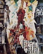 robert delaunay Tour Eiffel oil
