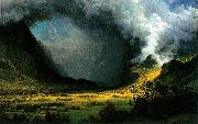 Albert Bierstadt Storm in the Mountains oil painting reproduction