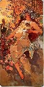 Alfons Mucha Autumn oil painting reproduction