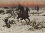 Alfred William Hunt,RWS The hunters oil