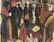 August Macke Farewell oil painting reproduction