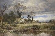 Benjamin Williams Leader A gleam before the storm oil on canvas