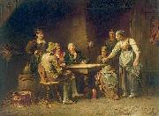 CHERICO, Francesco Antonio del Scene at the inn oil on canvas