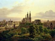 Carl Friedrich WilhelmTrautschold A medieval town oil painting reproduction