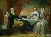 Charles Roscoe Savage Washington Family oil