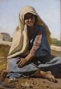 Charles Verlat The Girl from Bethlehem oil on canvas