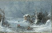 Cornelius Krieghoff The Blizzard china oil painting artist