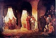 Eduardo de Martino The Trial of the Rebels oil painting reproduction