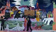 Ernst Ludwig Kirchner View of Basel and the Rhine china oil painting artist
