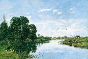 Eugene Boudin The River Touques at Saint Arnoult oil painting reproduction