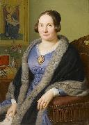 Franz Ittenbach Portrait of Margarete von Soist. Signed and dated oil painting reproduction