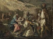 Gaspare Diziani The Adoration of the Magi oil painting reproduction