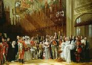 George Hayter Christening of the Prince of Wales in St.George's Chapel oil painting reproduction
