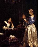 Gerard ter Borch the Younger Woman Reading a Letter oil painting