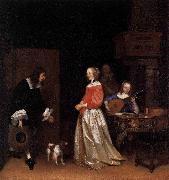 Gerard ter Borch the Younger The Suitors Visit oil painting