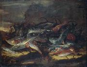 Giuseppe Recco Still-life with fish. oil painting reproduction