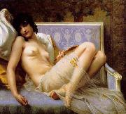 Guillaume Seignac Young-woman-on-a-settee china oil painting artist