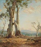 Hans Heysen Morning Light oil painting reproduction