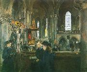 Harriet Backer Fra Trefoldighetskirken oil on canvas