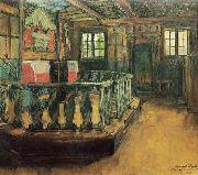 Harriet Backer Alteret i Uvdal kirke oil on canvas