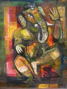 Heinrich Jakob Fried Lord Ganesh oil painting reproduction