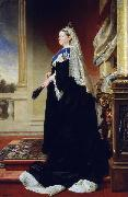 Heinrich Martin Krabbe Portrait of Queen Victoria as widow oil on canvas
