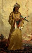 Henriette Ronner A Moorish Girl with Parakeet oil