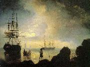 Ivan Aivazovsky Fishermen on the shore oil painting reproduction