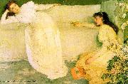 James Mcneill Whistler Symphony in White oil painting reproduction