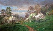 Jasper Francis Cropsey Apple Blossoms oil painting reproduction