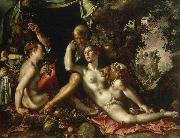 Joachim Wtewael Lot and his Daughters oil painting reproduction