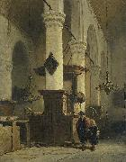 Johannes Bosboom Church Interior oil painting