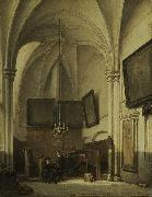 Johannes Bosboom The vestry of St. Stevens Church in Nijmegen oil painting