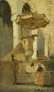 Johannes Bosboom The Pulpit of the Church in Hoorn oil painting
