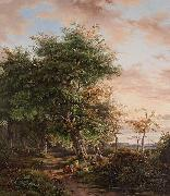 Johannes Gijsbertusz van Ravenswaay At Rest under a Tree oil painting reproduction