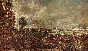 John Constable Blick auf die Waterloo-Brucke von Whitehall Stairs, 18. Juni 1817 oil painting reproduction