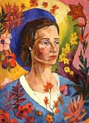 Lentulov, Aristarkh Unknown Lady in Blue oil on canvas