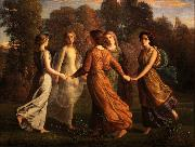 Louis Janmot Poem of the Soul Sunrays oil painting reproduction