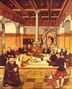 Lucas Cranach the Younger Last Supper oil painting reproduction