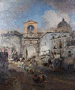 Oswald achenbach Going to market oil painting reproduction