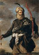 Pier Francesco Mola Oriental Warrior oil