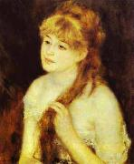 Pierre-Auguste Renoir Young Woman Braiding Her Hair oil painting reproduction