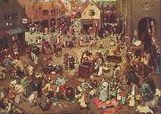 Pieter Bruegel Fight Between Carnival and Lent oil painting reproduction